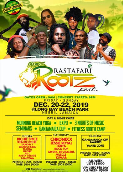 Ganjadventure Tours/ Rastafari Rootzfest/ Ganjamaica Cup 4-Day Retreat/ 3-Nights (Double)